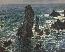 Monet, Felsen bei Belle - Ile/ 1886 by AKG  Images