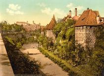 Nuernberg,Stadtmauer u. Burg /Photochrom by AKG  Images