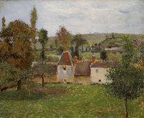 C.Pissarro, Bauernhof in Bazincourt von AKG  Images