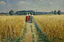 K.Malewitsch, Drei Frauen auf einem Weg by AKG  Images