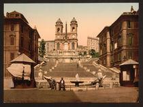 Rom, Spanische Treppe / Photochrom von AKG  Images