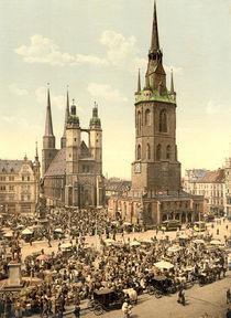 Halle, Marktplatz / Photochrom by AKG  Images