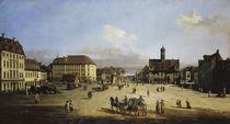 Dresden, Neustaedter Markt / Bellotto von AKG  Images