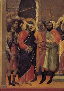 Duccio, Erste Geisselung, Ausschnitt by AKG  Images