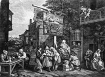 Hogarth, Canvassing for Votes by AKG  Images