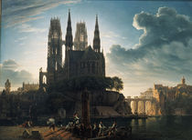 Schinkel, Gotischer Dom am Wasser/Kopie by AKG  Images
