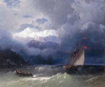 I.K.Aiwasowski, Schiffe in stuerm.See von AKG  Images