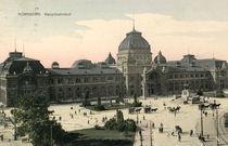Nuernberg, Hauptbahnhof / Bildpostk. 1910 von AKG  Images