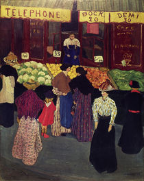 F.Vallotton, Auf dem Markt by AKG  Images