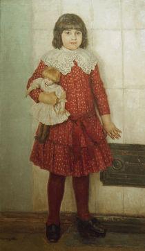 W.I.Surikow / Bildnis der Tochter Olga by AKG  Images