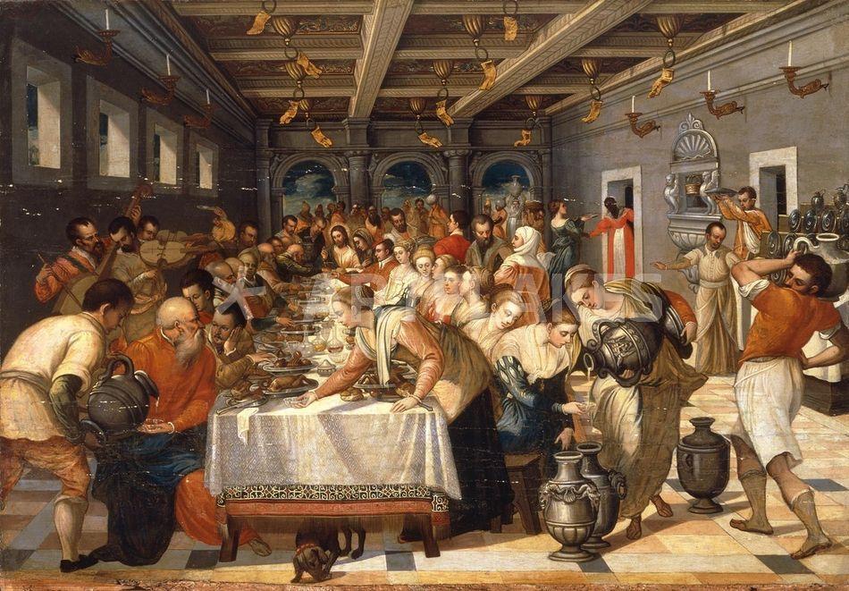 Nach Tintoretto Hochzeit Zu Kana Bild Als Poster Und Kunstdruck