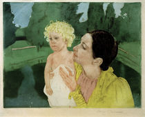 M.Cassatt, Frau, mit einem Kind spielend von AKG  Images