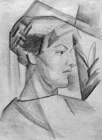 A.Macke,Portraetzeichnung Elisabeth Macke von AKG  Images