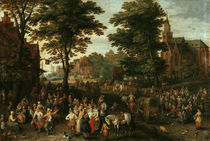 Jan Bruegel d.Ae. / Die Dorfkirmes by AKG  Images