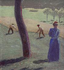 A.Macke, Arbeiter auf dem Feld bei ... von AKG  Images