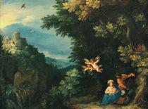 Brueghel u.Rottenhammer, Ruhe auf Flucht von AKG  Images
