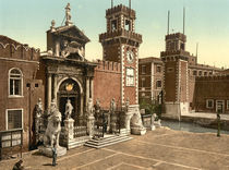 Venedig, Arsenal / Photochrom von AKG  Images
