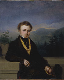 G.F.Kersting, Bildnis Herr mit Buch/1830 by AKG  Images