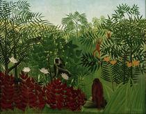 H.Rousseau, Tropischer Wald mit Affen von AKG  Images