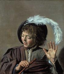 Frans Hals/ Singender Knabe mit Floete by AKG  Images