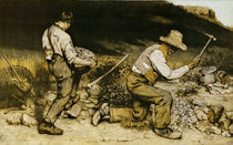G.Courbet, Die Steinklopfer/ 1849 by AKG  Images