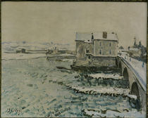 A.Sisley, Bruecke von Moret im Winter by AKG  Images