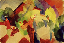 August Macke, Spaziergaenger im Park by AKG  Images