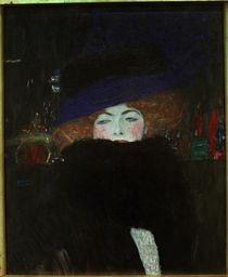G.Klimt, Dame mit Hut und Federboa by AKG  Images