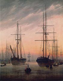 C.D.Friedrich, Ansicht eines Hafens von AKG  Images