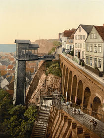 Helgoland, Fahrstuhl / Photochrom by AKG  Images