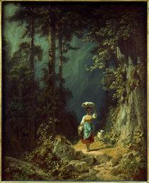 C.Spitzweg, Maedchen mit Ziege I von AKG  Images