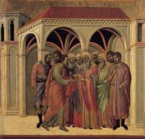 Duccio, Judas erhaelt Silberlinge von AKG  Images