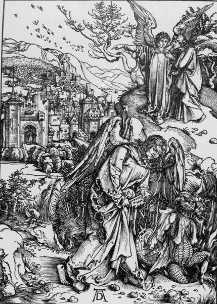 Albrecht Dürer - The Revelation of St John, 15. The Angel with the