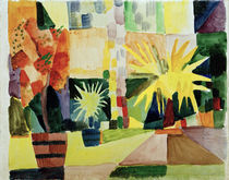 August Macke, Garten am Thunersee by AKG  Images