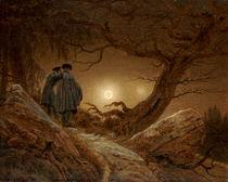 C.D.Friedrich, 2 Maenner Betrachtung Mond von AKG  Images