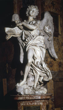 G.L.Bernini, Engel mit Kreuzesinschrift by AKG  Images