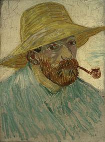 van Gogh, Selbstbildnis m.Strohhut 1888 by AKG  Images