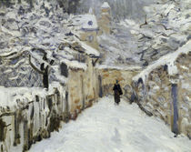 A.Sisley, Schnee in Louveciennes / Det. by AKG  Images