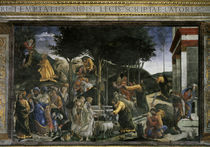 Botticelli, Geschichte des Moses by AKG  Images