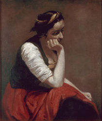Corot, Sinnendes Maedchen/ um 1860 by AKG  Images