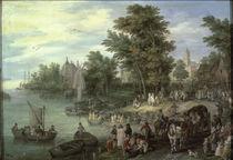 J.Brueghel d.Ae./ Landungsplatz/ 1615 von AKG  Images