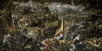 Die Schlacht von Zara/Tintoretto von AKG  Images