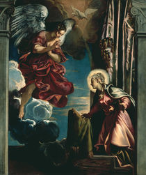Tintoretto, Verkuendigung an Maria by AKG  Images