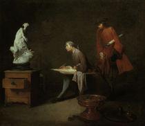 J.B.S.Chardin, Die Zeichenstudie von AKG  Images