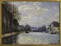 A.Sisley, Kanal Saint Martin von AKG  Images