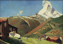 F.Vallotton, Aussicht von Zermatt von AKG  Images