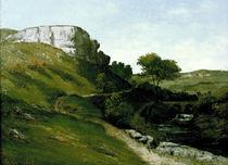 G.Courbet, Landschaft mit Fluss u.Bruecke by AKG  Images