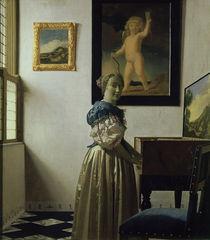 Vermeer, Stehende Virginalspielerin von AKG  Images
