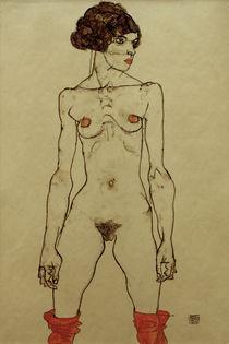 Egon Schiele, Stehendes nacktes Maedchen von AKG  Images