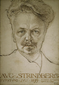 August Strindberg/ Zchng.v.Carl Larsson von AKG  Images